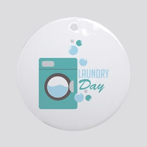 Laundry Day Ornament (Round)
