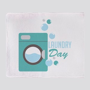 Laundry Day Throw Blanket
