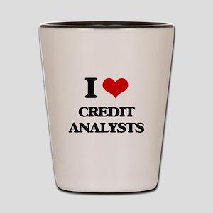 I love Credit Analysts Shot Glass