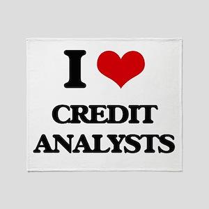 I love Credit Analysts Throw Blanket
