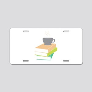 Coffee & Books Aluminum License Plate