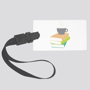 Coffee & Books Luggage Tag
