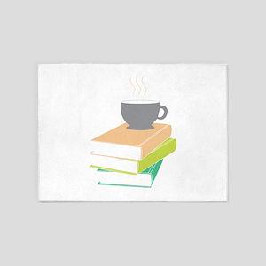 Coffee & Books 5'x7'Area Rug