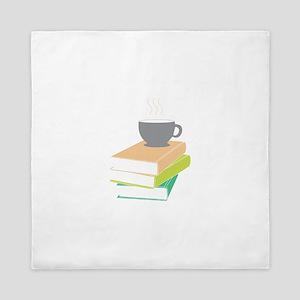 Coffee & Books Queen Duvet