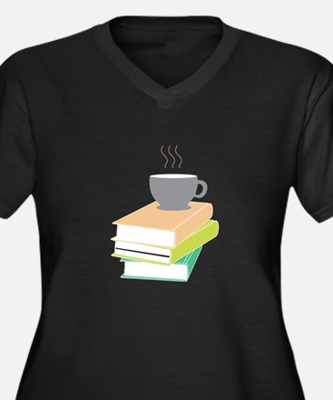 Coffee & Books Plus Size T-Shirt