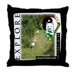 WMC Explore Front Throw Pillow