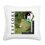 WMC Explore Front Square Canvas Pillow