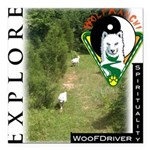 WMC Explore Front Square Car Magnet 3