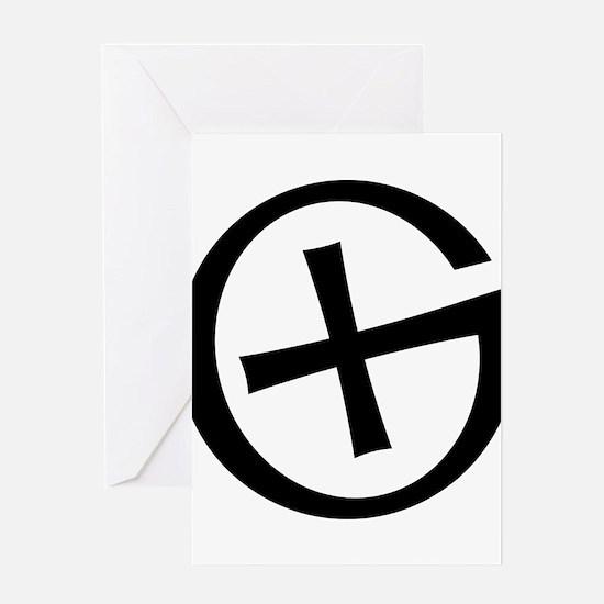 Geocaching symbol Greeting Cards