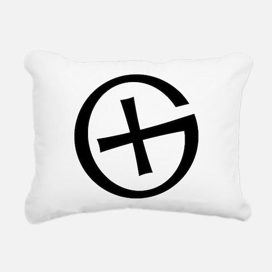 Geocaching symbol Rectangular Canvas Pillow