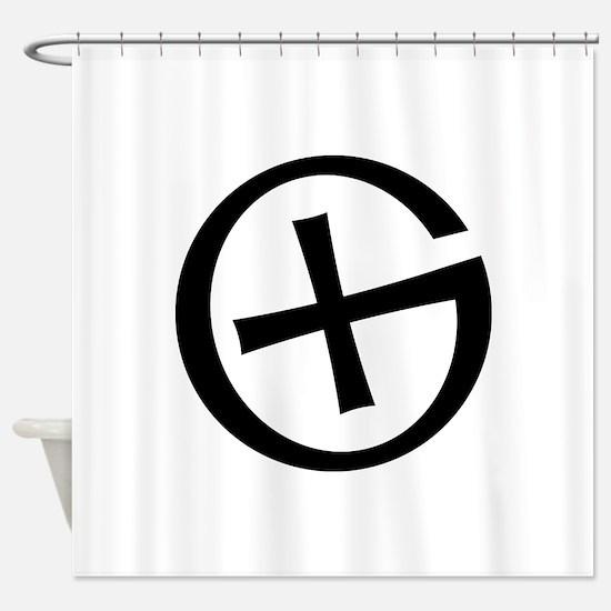 Geocaching symbol Shower Curtain