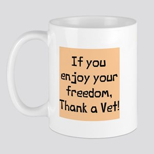 Enjoy Freedom Thank Vet Mug