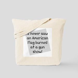 American Flag Gun Show Tote Bag