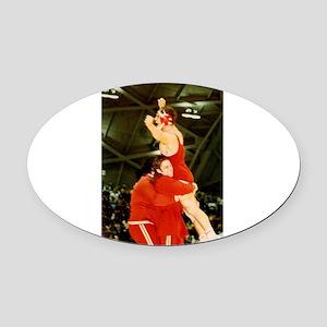 NCAA Champ Oval Car Magnet