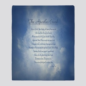 Apostles Creed Cyanotype Throw Blanket