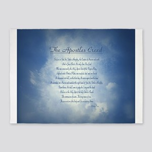 Apostles Creed Cyanotype 5'x7'Area Rug