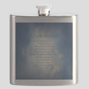 Apostles Creed Cyanotype Flask