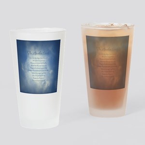 Apostles Creed Cyanotype Drinking Glass