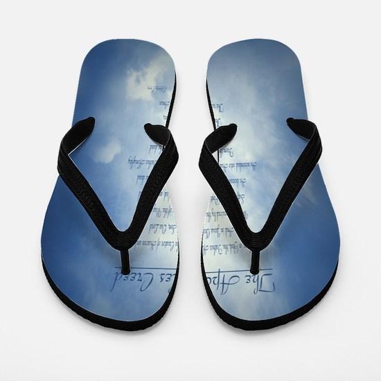 Apostles Creed Cyanotype Flip Flops