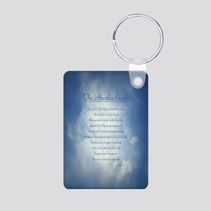 Apostles Creed Cyanotype Aluminum Photo Keychain