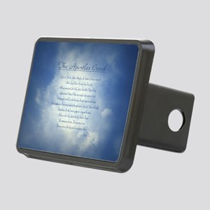Apostles Creed Cyanotype Rectangular Hitch Cover