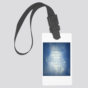 Apostles Creed Cyanotype Large Luggage Tag