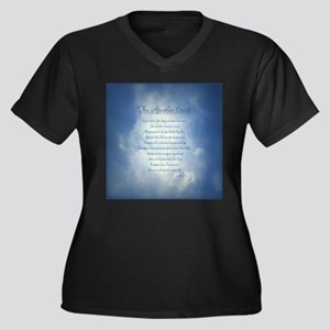 Apostles Cre Women's Plus Size V-Neck Dark T-Shirt
