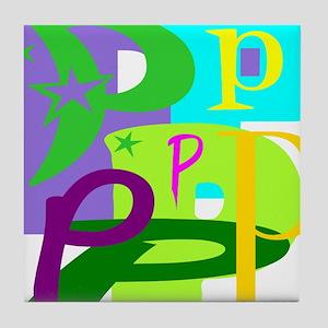 Initial Design (P) Tile Coaster