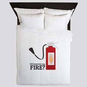 Fire Alarm Queen Duvet