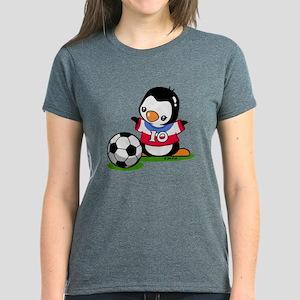 Soccer Penguin Women's Dark T-Shirt