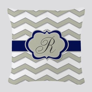Elegant Monogram by LH Woven Throw Pillow