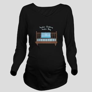 Sweet Dreams Long Sleeve Maternity T-Shirt