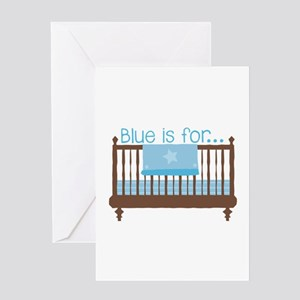 Blue For Baby Greeting Cards