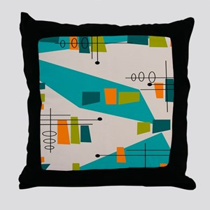 Mid-Century Modern Atomic Throw Pillow