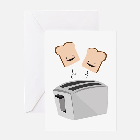 Happy Toaster Greeting Cards