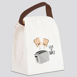 Seize The Toast Canvas Lunch Bag