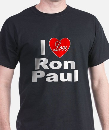 I Love Ron Paul (Front) T-Shirt