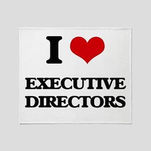 I love Executive Directors Throw Blanket