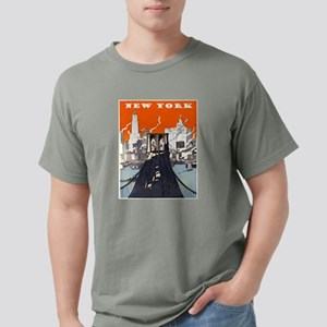 New York Brooklyn Bridge Mens Comfort Colors Shirt