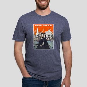 New York Brooklyn Bridge Mens Tri-blend T-Shirt