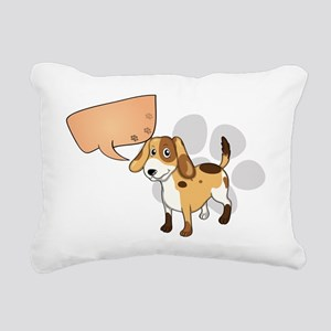 A puppy with an empty re Rectangular Canvas Pillow