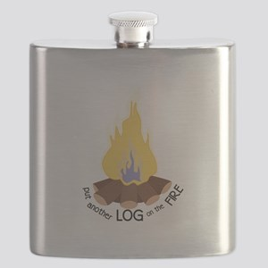 Log On The Fire Flask