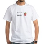 Christmas Popcorn White T-Shirt