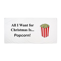 Christmas Popcorn Beach Towel