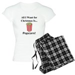 Christmas Popcorn Women's Light Pajamas