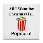 Christmas Popcorn Tile Coaster