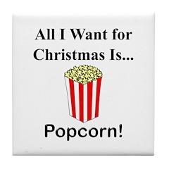 Christmas Popcorn Tile Coaster