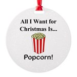 Christmas Popcorn Round Ornament