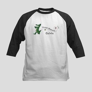 Happy Birthday Calvin (gator) Kids Baseball Jersey