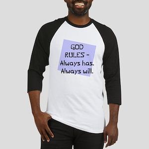 God rules always will Baseball Jersey